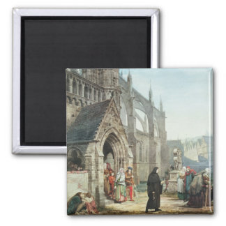 Faust and Marguerite, 1857 (w/c on paper) 2 Inch Square Magnet