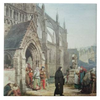 Faust and Marguerite, 1857 (w/c on paper) Ceramic Tile