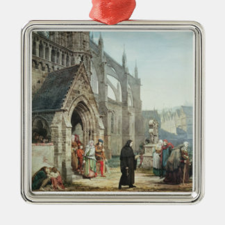 Faust and Marguerite, 1857 (w/c on paper) Metal Ornament