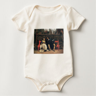 Faust and Marguerite in the garden by James Tissot Baby Bodysuit