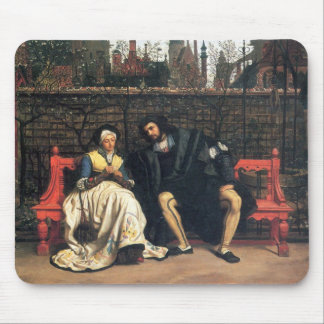 Faust and Marguerite in the garden by James Tissot Mouse Pad