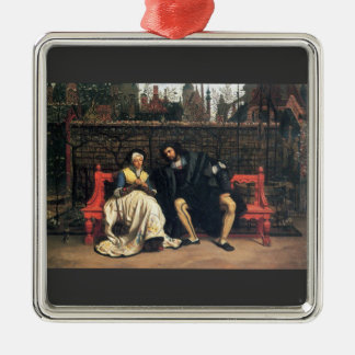 Faust and Marguerite in the garden by James Tissot Christmas Tree Ornament