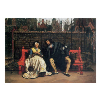 Faust and Marguerite in the garden by James Tissot Poster