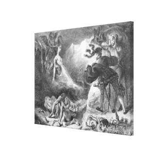 Faust and Mephistopheles at the Witches' Canvas Print