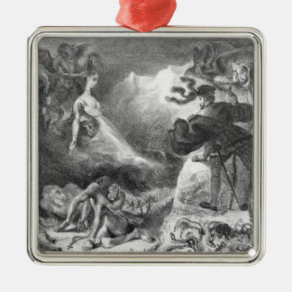 Faust and Mephistopheles at the Witches' Christmas Tree Ornament