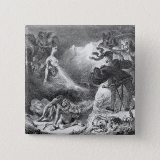 Faust and Mephistopheles at the Witches' Pinback Button