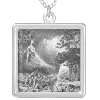 Faust and Mephistopheles at the Witches' Silver Plated Necklace