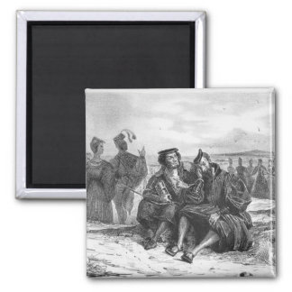 Faust and Wagner in conversation 2 Inch Square Magnet