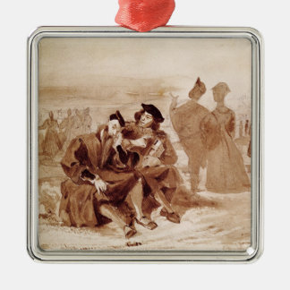 Faust and Wagner in conversation in Christmas Ornament