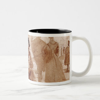 Faust and Wagner in conversation in Two-Tone Coffee Mug