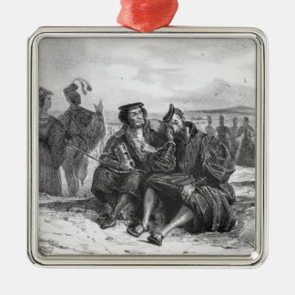 Faust and Wagner in conversation Metal Ornament
