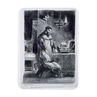 Faust in his Study, from Goethe's Faust, 1828, (il Magnet