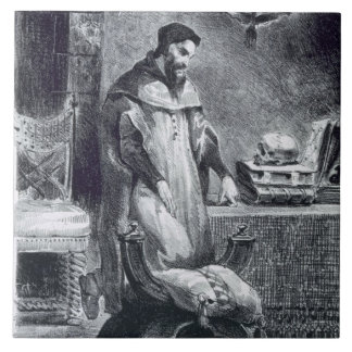 Faust in his Study, from Goethe's Faust, 1828, (il Tile