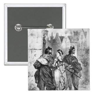 Faust meeting Marguerite 2 Inch Square Button