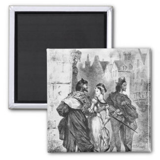 Faust meeting Marguerite 2 Inch Square Magnet