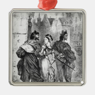 Faust meeting Marguerite Metal Ornament