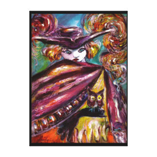 FAUST / Mysterious Mask with Tricorn and Owl Canvas Print