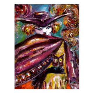 FAUST / Mysterious Mask with Tricorn and Owl Post Cards
