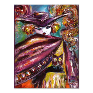 FAUST/ Mysterious Mask with Tricorn Costume Pary 4.25x5.5 Paper Invitation Card