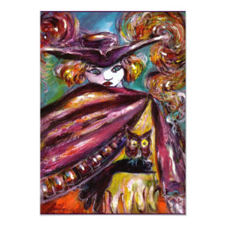FAUST/ Mysterious Mask with Tricorn Costume Pary 5x7 Paper Invitation Card