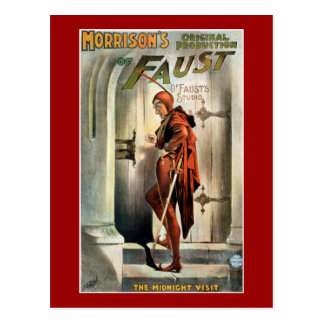 Faust - The Midnight Visit Postcard