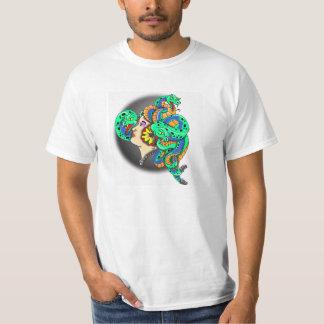 FAUST TRADITIONAL GYPSY WOMAN TATTOO DRAGON T-Shirt