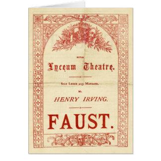 Fausto de Henry Irving Tarjeta De Felicitación