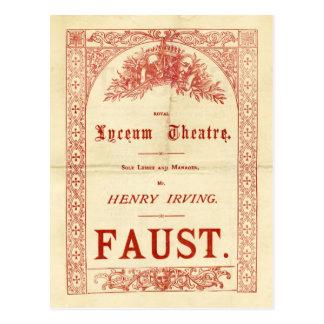 Fausto de Henry Irving Tarjetas Postales