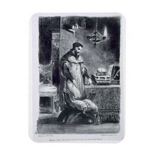 Fausto en su estudio, de Fausto de Goethe, 1828, ( Iman Flexible