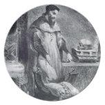 Fausto en su estudio, de Fausto de Goethe, 1828, ( Platos De Comidas