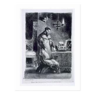 Fausto en su estudio, de Fausto de Goethe, 1828, Postales