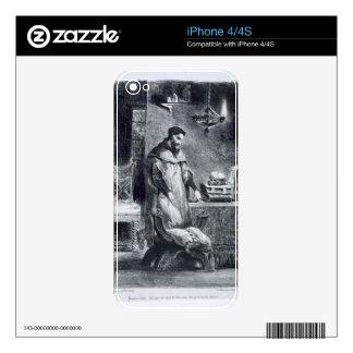 Fausto en su estudio de Fausto de Goethe 1828 Calcomanías Para El iPhone 4S