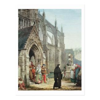 Fausto y margarita 1857 w c en el papel tarjeta postal