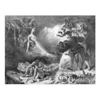 Fausto y Mephistopheles en las brujas Postal