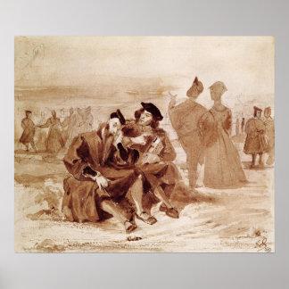Fausto y Wagner en la conversación adentro Póster