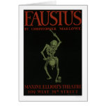 Faustus By Marlowe 1936 WPA Card