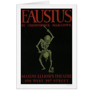Faustus By Marlowe 1936 WPA Greeting Card
