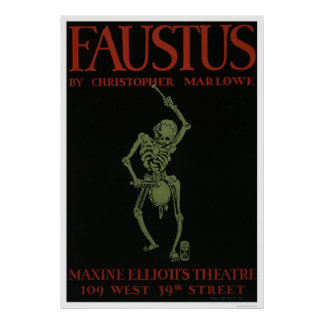 Faustus By Marlowe 1936 WPA Poster