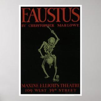 Faustus por Marlowe WPA 1936 Impresiones