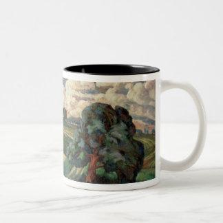 Fauve Landscape Two-Tone Coffee Mug
