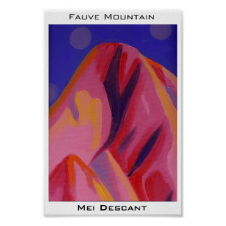 Fauve Mountain Print