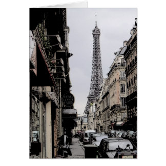 Fauve-style Eiffel Tower/Paris greeting card