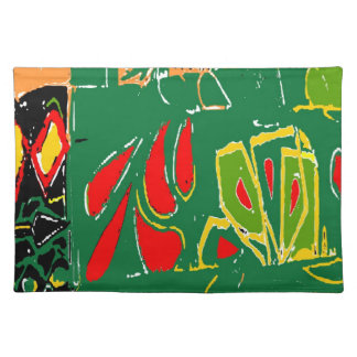 Fauvism Abstract Shapes Cloth Placemat