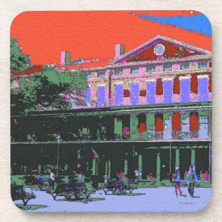 Fauvism: New Orleans Pontalba Building Beverage Coaster
