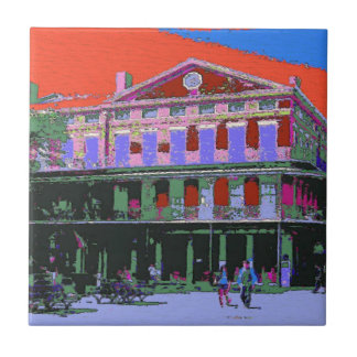 Fauvism: New Orleans Pontalba Building Small Square Tile