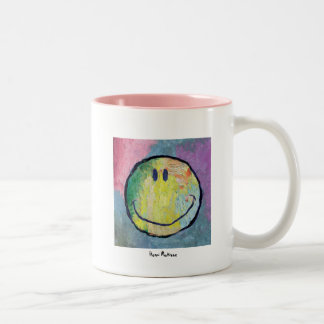 fauvist happy face mug