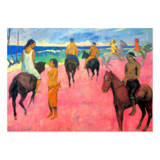 Fauvist painting Gauguin horse art riders on beach Large Business Cards (Pack Of 100)