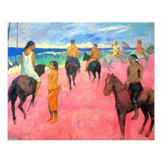 "Fauvist painting Gauguin horse art riders on beach 4.5"" X 5.6"" Flyer"