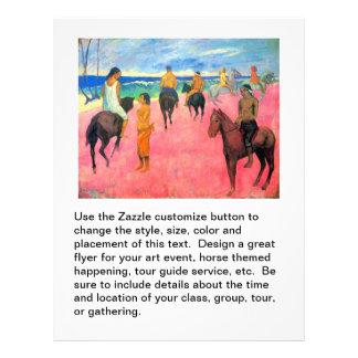 "Fauvist painting Gauguin horse art riders on beach 8.5"" X 11"" Flyer"