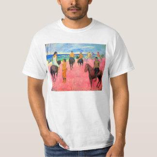Fauvist painting Gauguin horse art riders on beach T-Shirt